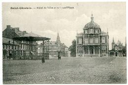 BELGIQUE : SAINT GHISLAIN - HOTEL DE VILLE ET LA GRAND PLACE - Saint-Ghislain