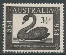 Australia. 1954 Western Australian Postage Stamp Commemoration. 3½d MNH. SG 277 - 1952-65 Elizabeth II : Pre-Decimals