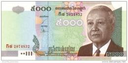 CAMBODIA 5000 RIELS 2004 P-55c UNC  [KH418c] - Cambodia