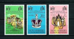 Nuevas Hébridas (Británicas)  Nº Yvert  447/9  En Nuevo - Leyenda Inglesa