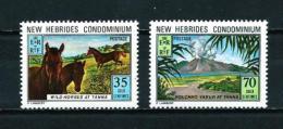 Nuevas Hébridas (Británicas)  Nº Yvert  372/3  En Nuevo - Leyenda Inglesa