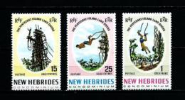 Nuevas Hébridas (Británicas)  Nº Yvert  289/91  En Nuevo - Leyenda Inglesa