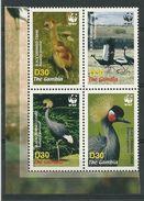 WWF   GAMBIA  BIRDS    SET  MNH - W.W.F.