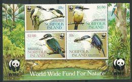 WWF   NORFOLK ISLAND   BIRDS   SET  MNH - W.W.F.