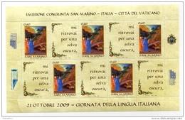 2009 SAN MARINO GIORNATA DELLA LINGUA ITALIANA FOGLIETTO** - Blocs-feuillets