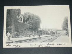 BLAISY BAS  / ARDT DIJON  1910 /   INTERIEUR  DE LA GARE COTE VOIES    /  CIRC OUI / EDIT - Autres Communes