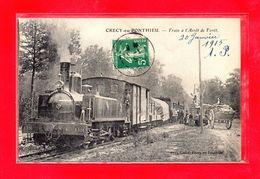 80-CPA CRECY EN PONTHIEU - TRAIN A L'ARRET DE FORET - (N°507) - Crecy En Ponthieu