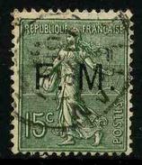 FRANCE - FRANCHISE MILITAIRE - YT FM 3 - TIMBRE OBLITERE - Franchise Stamps