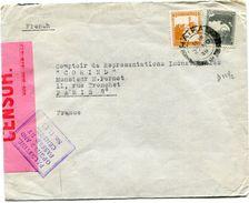 PALESTINE LETTRE CENSUREE DEPART HAIFA 27 NO 39 POUR LA FRANCE - Palestine