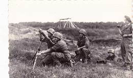 CPSM Animée (38) Camp De CHAMBARAN Mortier De 80 En Position Militaria Militaire - Matériel