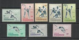 RWANDA 1964 OLIMPYC GAMSE TOKYO GIOCHI OLIMPICI OLIMPIADE COMPLETE SET SERIE COMPLETA MNH - Rwanda