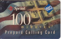 "USA - Sam""s Club, Sprint Magnetic Prepaid Card 100 Min, Used - Sprint"