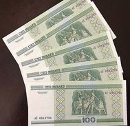 C) BELARUS BANK NOTE 100 RUBLEIS 5 PCS ND 2000 UNC - Belarus