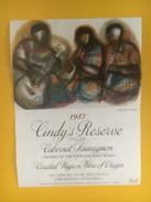 4563 -  Cindy's Réserve 1983 Cabernet Sauvignon Afrique Du Sud Musiciens Artiste Godfrey Ndabe - Art