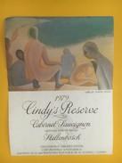 4565 -  Cindy's Réserve 1979 Cabernet Sauvignon Afrique Du Sud  Artiste Simon Jones - Art