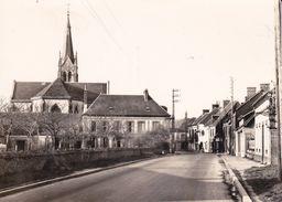 CPSM/gf  (61)  CRULAI.  Le Bourg, L'église. ..G144 - France