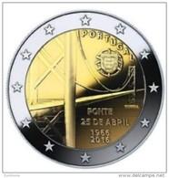 Portugal 2016    2 Euro Commemo  50 Jaar Ponte 25 Abril     UNC Uit De Rol  UNC Du Rouleaux  !! - Portugal
