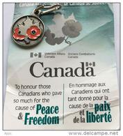"""CANADA:""""Vétérans Canadiens"""".Hommage à Ceux Tombés à La 1 ère Guerre Mondiale. Pin Officiel:Feuille D´érable & Coquelicot - Militaria"""