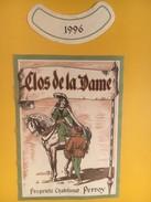 4584 -  Clos De La Dame 1996 Perroy Suisse - Etiquettes