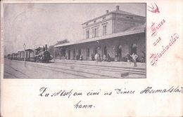 France 67, Gruss Aus Bischweiler, Chemin De Fer, Gare Et Train à Vapeur (27.8.97) - Bischwiller