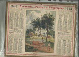 Calendrier Des Postes G-F  De Haute_Savoiede 1942 ( Depart Pour Le Travail Des Champs ) -Pages Complètes - Big : 1941-60
