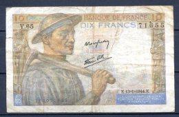 456-France Billet De 10 Francs 1944 E V65 - 1871-1952 Circulated During XXth