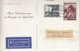 Mischfrankatur ÖSTERREICH 602/ DEUTSCHES REICH 652, Mit Luftpost, St: Innsbruck 10.IV.1938, PROPAGANDA - Allemagne