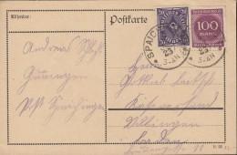 INFLA DR 230 W, 268 B MiF, Auf PK Mit Stempel: Spaichingen 5.7.1923 - Infla
