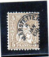 B - 1862 Svizzera - Elvezia Seduta - Gebraucht