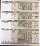 C) BELARIUS BANK NOTE 20 RUBLEI 4 PCS ND (2000) UNCIRCULATED - Belarus