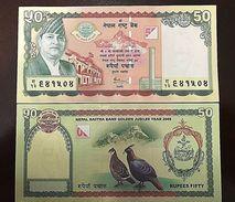 C) NEPAL BANK NOTE 50 RUPEES ND 2005 UNC - Nepal