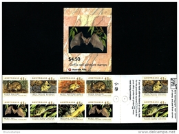 AUSTRALIA - 1992  $ 4.50 THREATENED SPECIES  BOOKLET  1 KANGAROO  1 KOALA  REPRINT  MINT NH SG SB78 - Carné