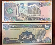 C) LEBANON BANK NOTE 1000 LIVRES ND(1990 - 92) UNC - Lebanon