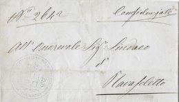 1870 Brief/Lettre Tolmezzo → Stempel/Oblitération : Officiel R.COMMISSARIATO DISTRETTI TOLMEZZO 29 GIU 1870 - 1861-78 Victor Emmanuel II.