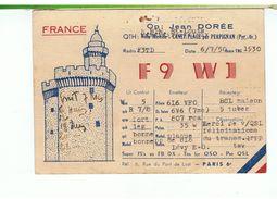 QSL-RADIO AMATEUR-1950-FRANCE-CANET-PLAGE-66-JEAN DORÉE-F9 WJ- - Radio Amateur