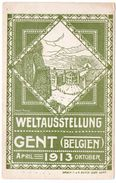 BELGIEN/BELGIQUE - WELTAUSSTELLUNG 1913 GENT / ARTIST SIGNED HENRY THIERY - Gent