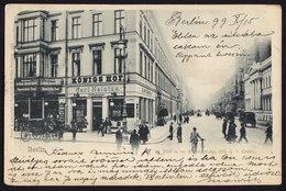 BERLIN KONIGS HOF HOTEL OLD POSTCARD 1899 - Germany