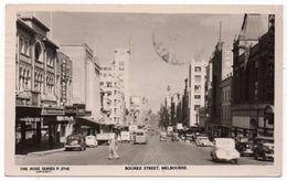 AUSTRALIA - MELBOURNE BOURKE STREET/ OLD CARS - 1952 - Melbourne