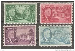 USA. Scott # 930-33 MNH. Roosvelt 1945-46 - Etats-Unis
