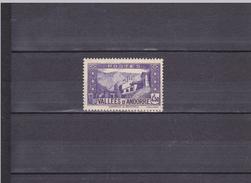 CHAPELLE DE NOTRE-DAME DE MERITXELL / NEUF ** / 4F50 VIOLET / N° 90 YVERT ET TELLIER 1937-43 - Andorre Français