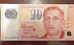 C) SINGAPORE BANK NOTE 10 DOLLARS ND (1999) UNC - Singapore