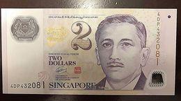 C) SINGAPORE BANK NOTE 2 DOLLARS ND 1999 UNC - Kuwait