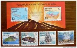 SALOMON Islands  VOLCANS, VOLCAN, Geologie, Yvert 827/30 + BF; MNH  ** Neuf Sans Charniere - Volcans