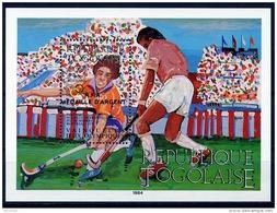 Togo, 1985, Olympic Summer Games Los Angeles, Medal Winners, Field Hockey, MNH Overprinted, Michel Block 271 - Togo (1960-...)