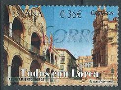 ESPAGNE SPAIN SPAIN ESPAÑA 2012 LORCA AYUNTAMIENTO 0,36 € ED 4693 YV 4370 MI 4665 SG 4645 SC 3823 - 2011-... Usati