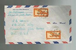 1950 Saigon Vietnam Airmail Cover To USA - Vietnam