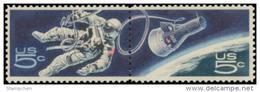 1967 USA Space Achievement Stamps Sc#1331-2 #1332b Earth Astronaut - Geschichte