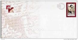 """PAP Avec Timbre """"La Jeune Fille Aux Coquillages (rouge)"""" Sur Papier Satiné + Carte De Correspondance - Prêt-à-poster"""
