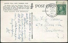 USA Territory Of Alaska 1924 Postcard CORDOVA Cancel PPC Winter Trail Over Thomson Pass Horses - Postal History