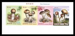 North Korea 2017 Mih. 6385B/88B Flora. Matsutake (Pine Mushrooms) (booklet Sheet) (imperf) MNH ** - Corea Del Norte